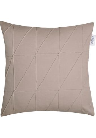 SCHÖNER WOHNEN-Kollektion Kissenbezug »Across«, (1 St.), mit graphischen Ziernähten kaufen