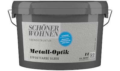 SCHÖNER WOHNEN-Kollektion Wandfarbe »Metall-Optik Effektfarbe silber«, glänzend 1 l kaufen