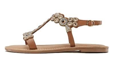 LASCANA Sandale, mit stilvollen Schmucksteinen kaufen