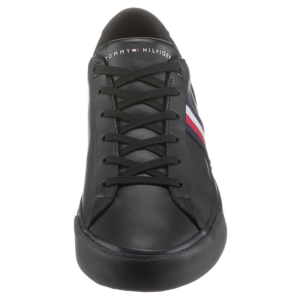 Tommy Hilfiger Sneaker »CORPORATE LEATHER SNEAKER«, mit seitlichen Streifen