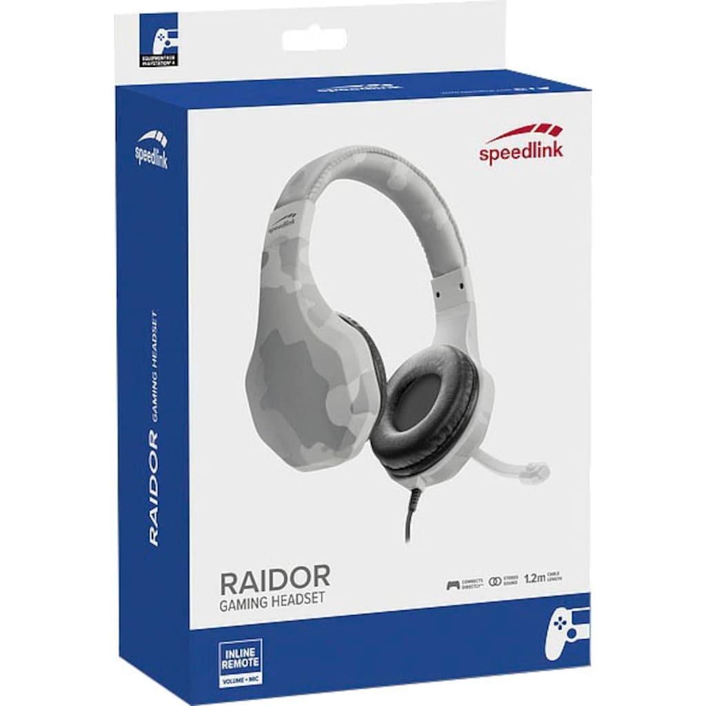 Speedlink Gaming-Headset »RAIDOR Stereo Headset PS4 blau«
