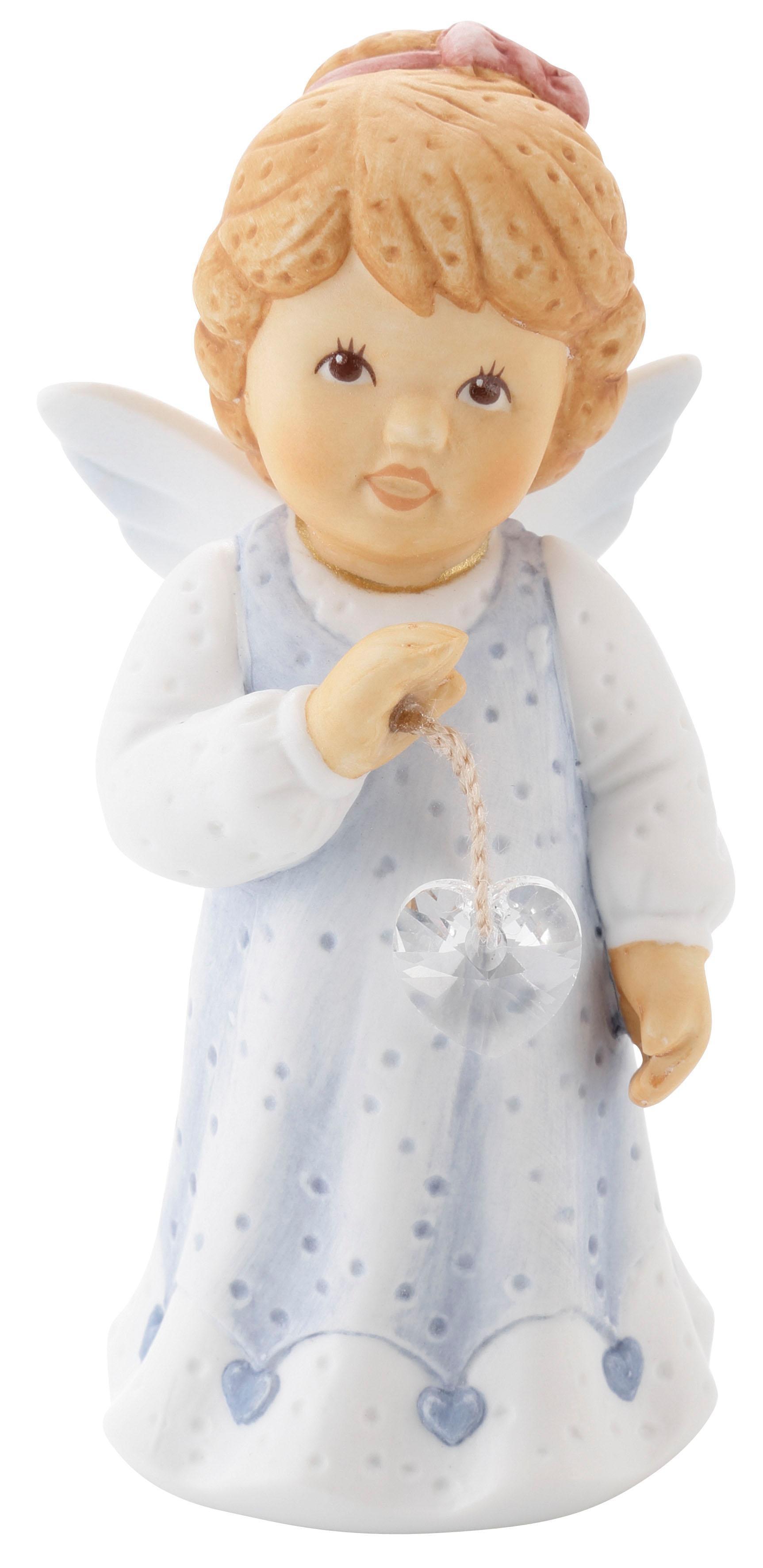 Goebel Engelfigur Du bist wundervoll so wie bist, mit Kristallherz blau Sammlerfiguren Figuren Skulpturen Wohnaccessoires