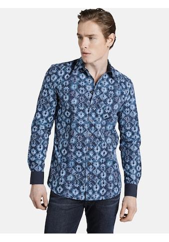 SHIRTMASTER Langarmhemd »baticflower«, im All Over Batikmuster kaufen
