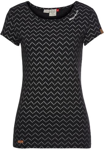 Ragwear Plus Print-Shirt »MINT CHEVRON PLUS«, mit effektvollem Zig Zag.-Allover-Druck kaufen