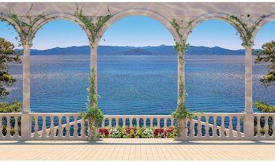 PAPERMOON Fototapete »Terrace with Colonnade«, Vlies, in verschiedenen Größen kaufen