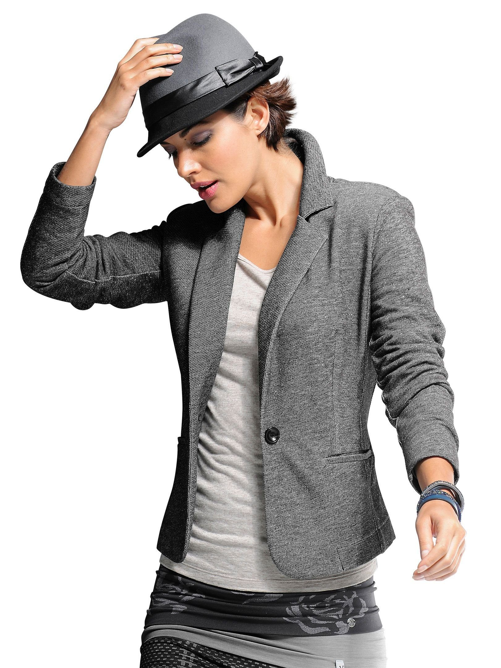 alba moda sweatblazer in modischer two tone jerseyqualit t. Black Bedroom Furniture Sets. Home Design Ideas