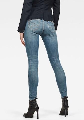 G - Star RAW Skinny - fit - Jeans »Midge Zip Mid Skinny« kaufen