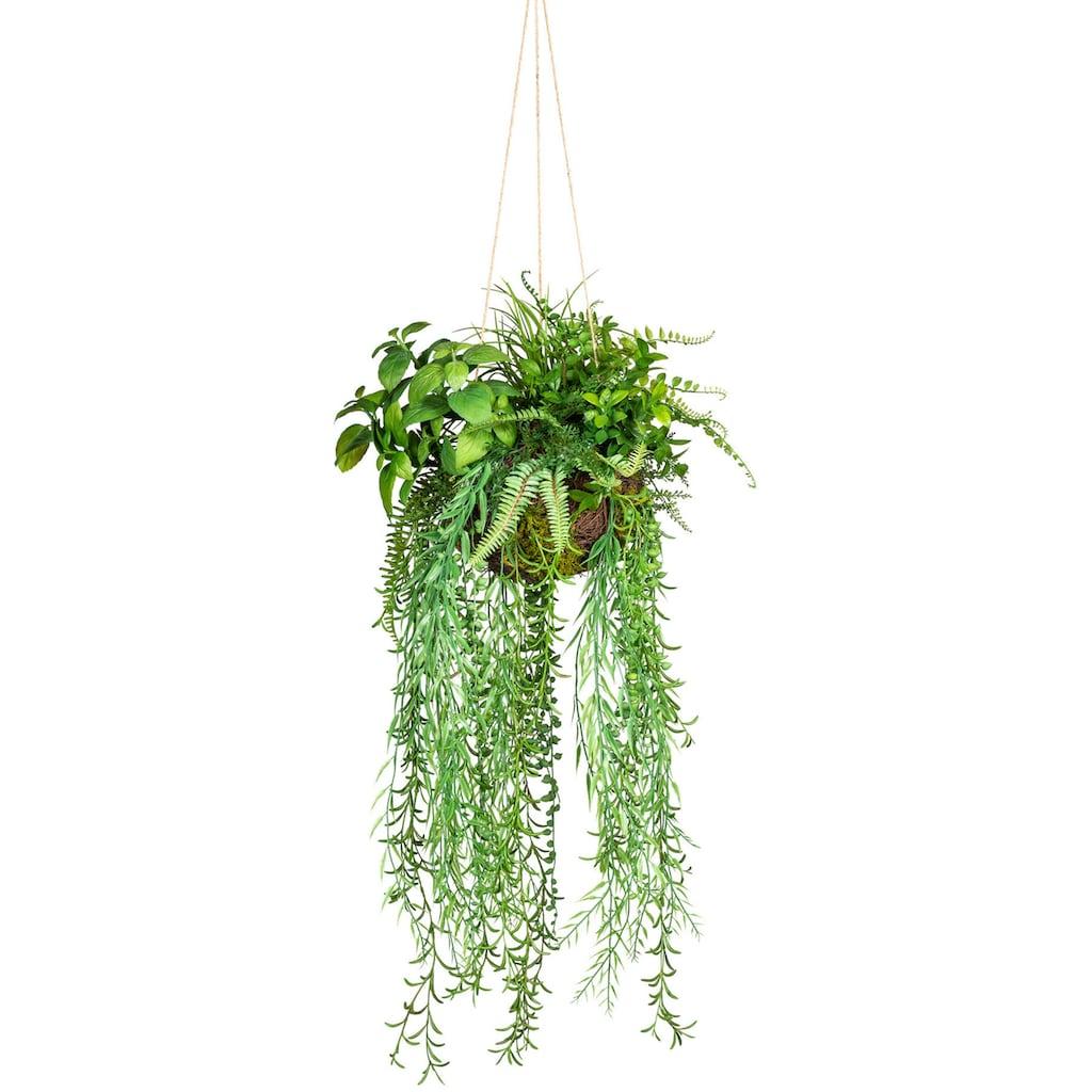 Creativ green Künstliche Zimmerpflanze »Dekokugel zum Hängen«