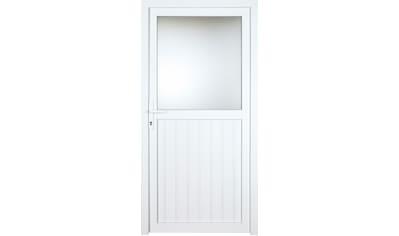 KM Zaun Nebeneingangstür »K606P«, BxH: 98x198 cm, weiß, links kaufen