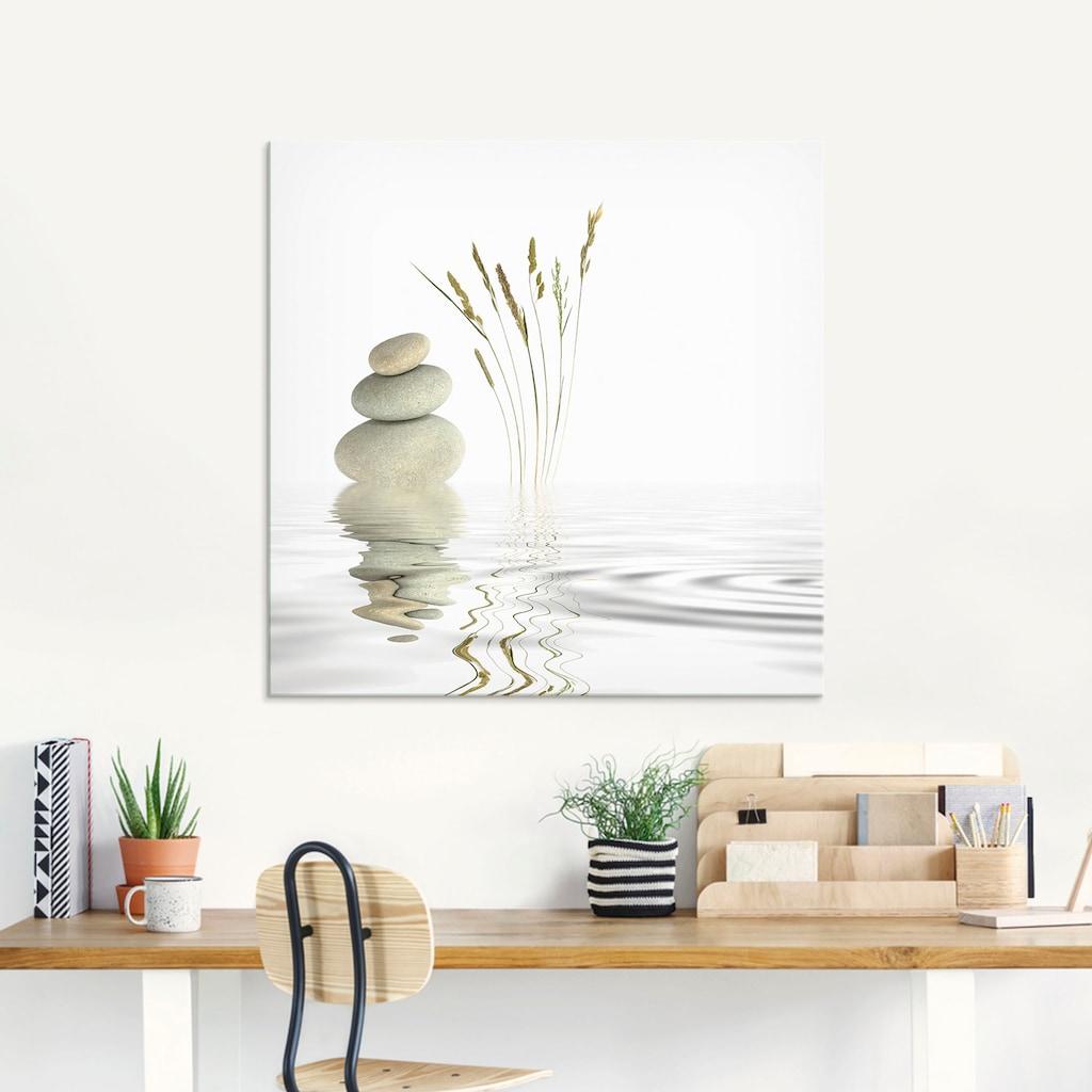 Artland Glasbild »Zen Friede«, Zen, (1 St.)