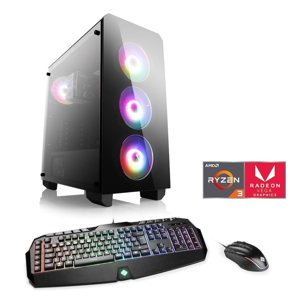 CSL Gaming-PC »Levitas T8118 Windows 10 Home«, AMD Ryzen 3 3200G   Vega 8   16 GB RAM   SSD