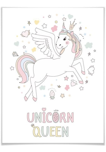 Wall-Art Poster »Magisches Einhorn mit Krone«, Kinder, (1 St.), Poster, Wandbild,... kaufen