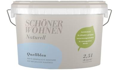 SCHÖNER WOHNEN-Kollektion Wand- und Deckenfarbe »Naturell Quellblau«, 2,5 l kaufen