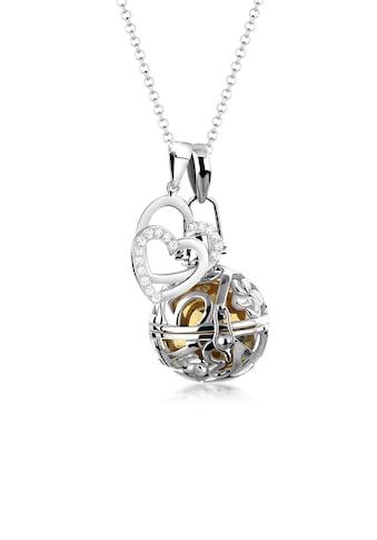 Nenalina Kette mit Anhänger »Engelsflüsterer Zirkonia Herz Liebe 925 Silber« kaufen
