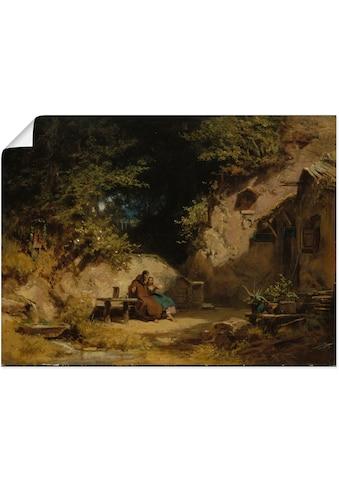 Artland Wandbild »Alter Klausner mit einem jungen Mädchen«, Paar, (1 St.), in vielen... kaufen