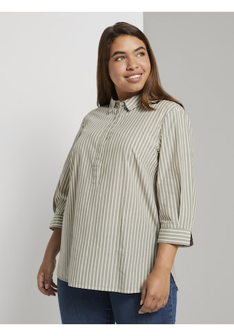 TOM TAILOR MY TRUE ME Hemdbluse »Gestreifte Bluse mit Henley - Kragen« kaufen