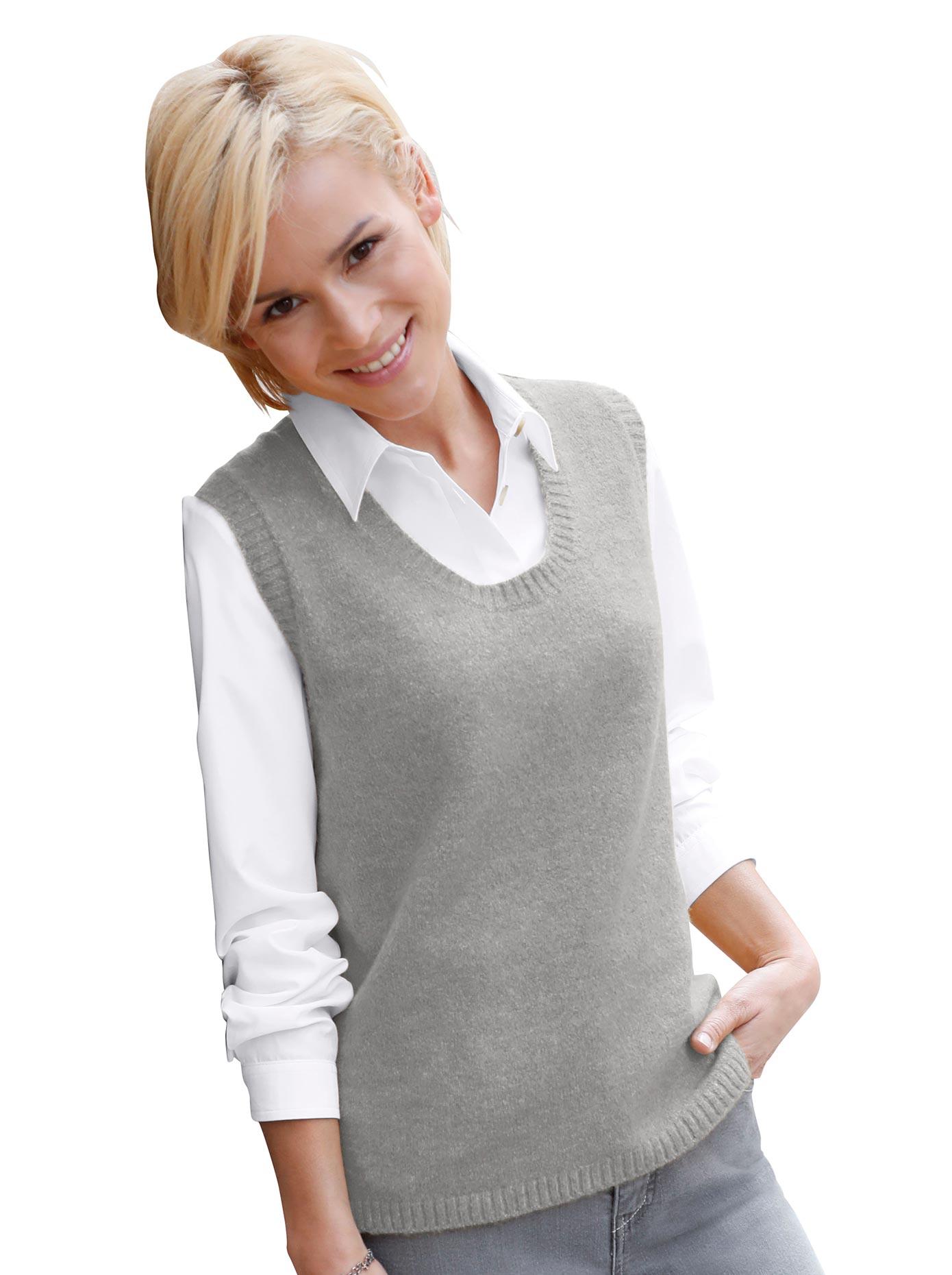 Casual Looks Pullunder mit streckendem V-Ausschnitt | Bekleidung > Pullover > Pullunder | Casual Looks