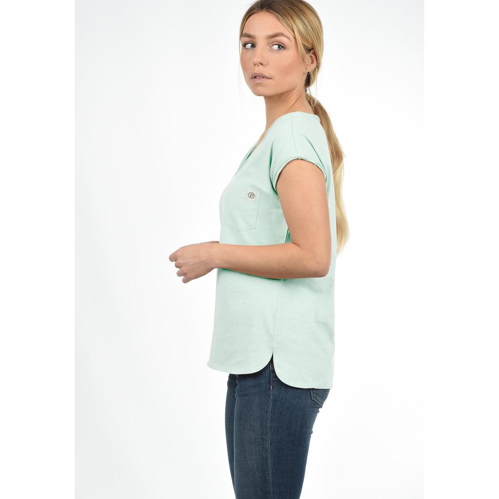 DESIRES T-Shirt »Lynn«, Kurzarmshirt mit Rollkante