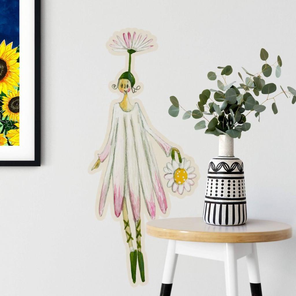 Wall-Art Wandtattoo »Blütenelfe August Gänseblume«