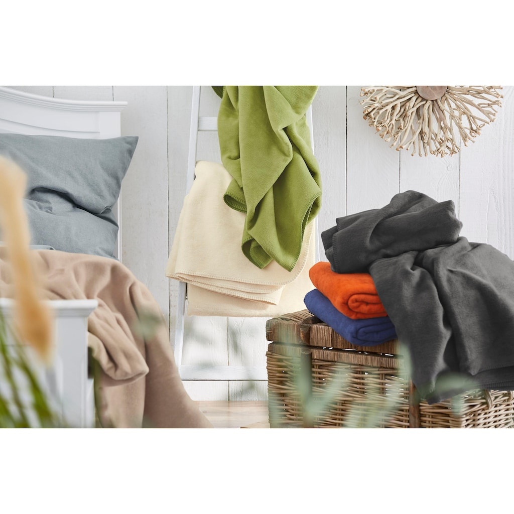 IBENA Wohndecke »Bergamo«, in vielen Farben erhältlich