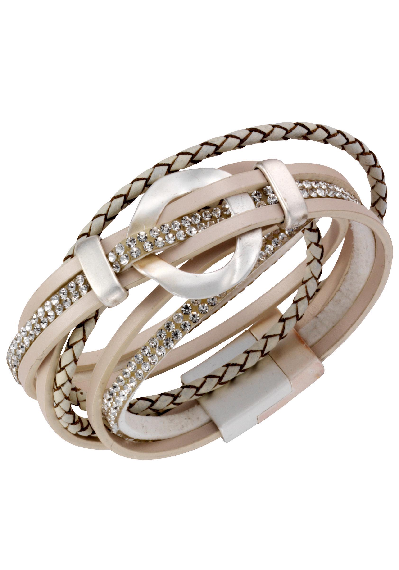 JJayz Wickelarmband stylisch teilweise geflochten | Schmuck > Armbänder > Wickelarmbänder | J.Jayz