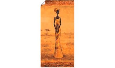 Artland Wandbild »Afrikanische Eleganz II«, Frau, (1 St.), in vielen Größen &... kaufen