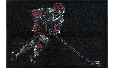 wash+dry by Kleen-Tex Fußmatte »Icehockey«, rechteckig, 7 mm Höhe, Schmutzfangmatte,... kaufen