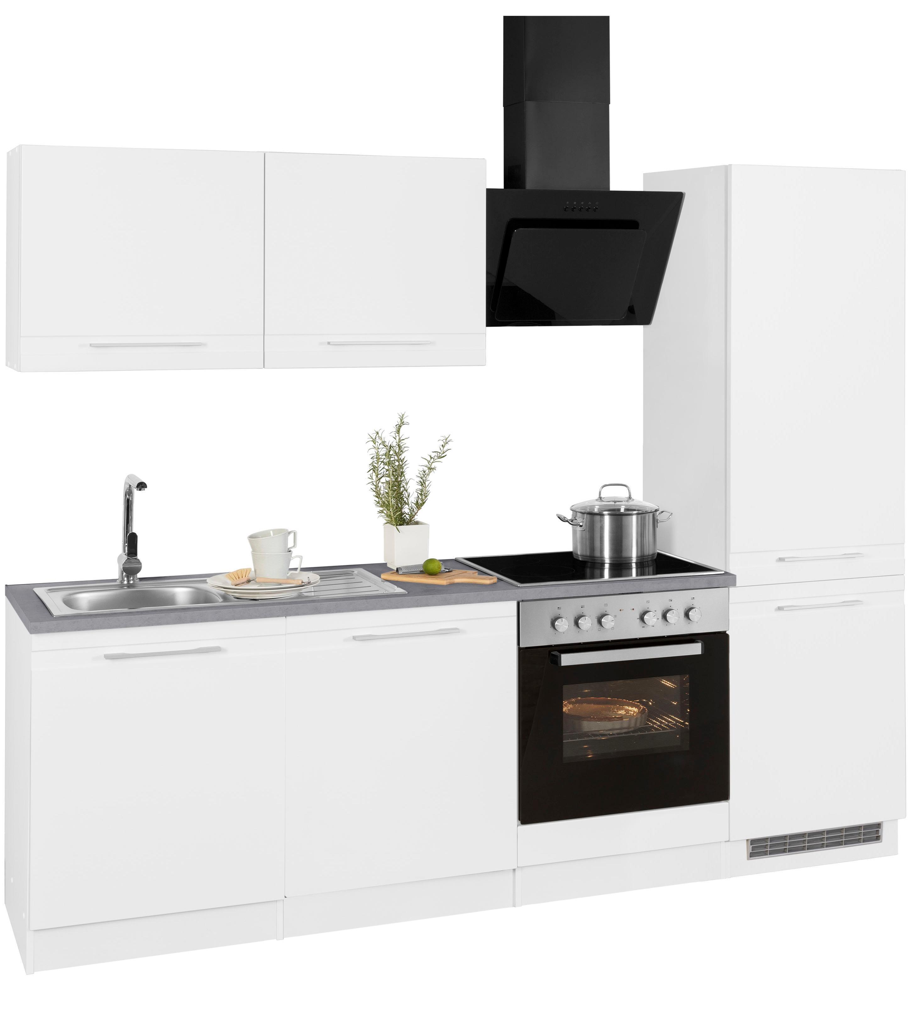 HELD MÖBEL Küchenzeile Mito mit E-Geräten Breite 240 cm | Küche und Esszimmer > Küchen > Küchenzeilen | Weiß | Held Möbel
