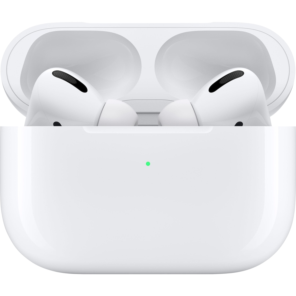 Apple In-Ear-Kopfhörer »AirPods Pro mit Wireless Case«, Bluetooth, Noise-Cancelling-Transparenzmodus-Sprachsteuerung-True Wireless, Kompatibel mit iPhone, iPhone XR, iPhone Mini, iPad Air, iPad Mini, iPad Pro, Watch SE, Series 6, Series 5, Series 4, Series 3, Mac Mini, iMac
