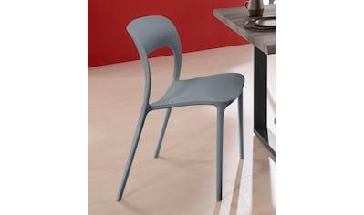 INOSIGN Esszimmerstuhl »Wien«, im 2er und 4er Set, in vier trendigen Farbvarianten, aus Kunststoff, Sitzhöhe 44, 5 cm kaufen