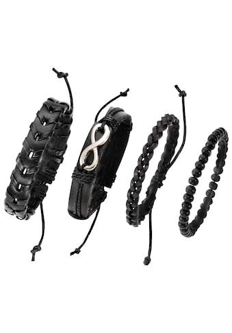 J.Jayz Armband Set »Infinity/Unendlichkeitsschleife«, (Set, 4 tlg.), mit Holzperlen kaufen