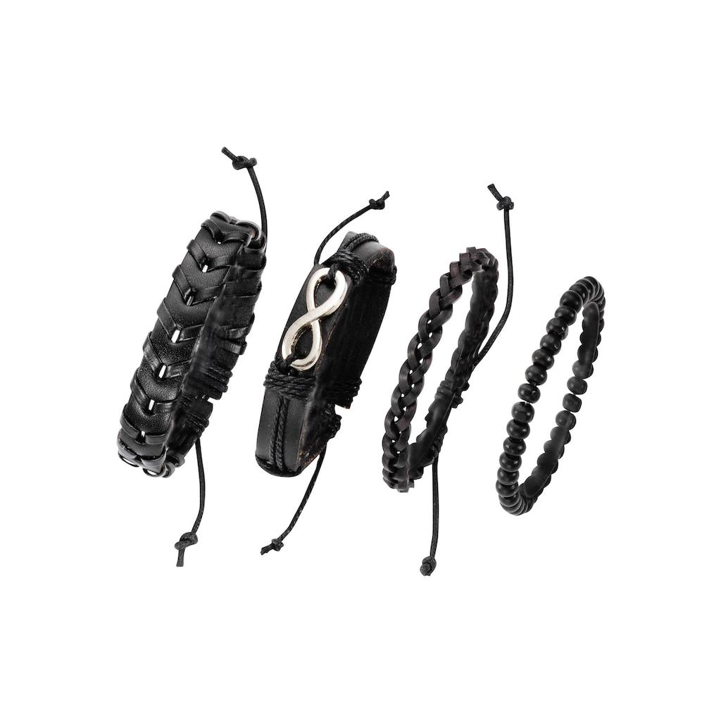 J.Jayz Armband Set »Infinity/Unendlichkeitsschleife«, (Set, 4 tlg.), mit Holzperlen