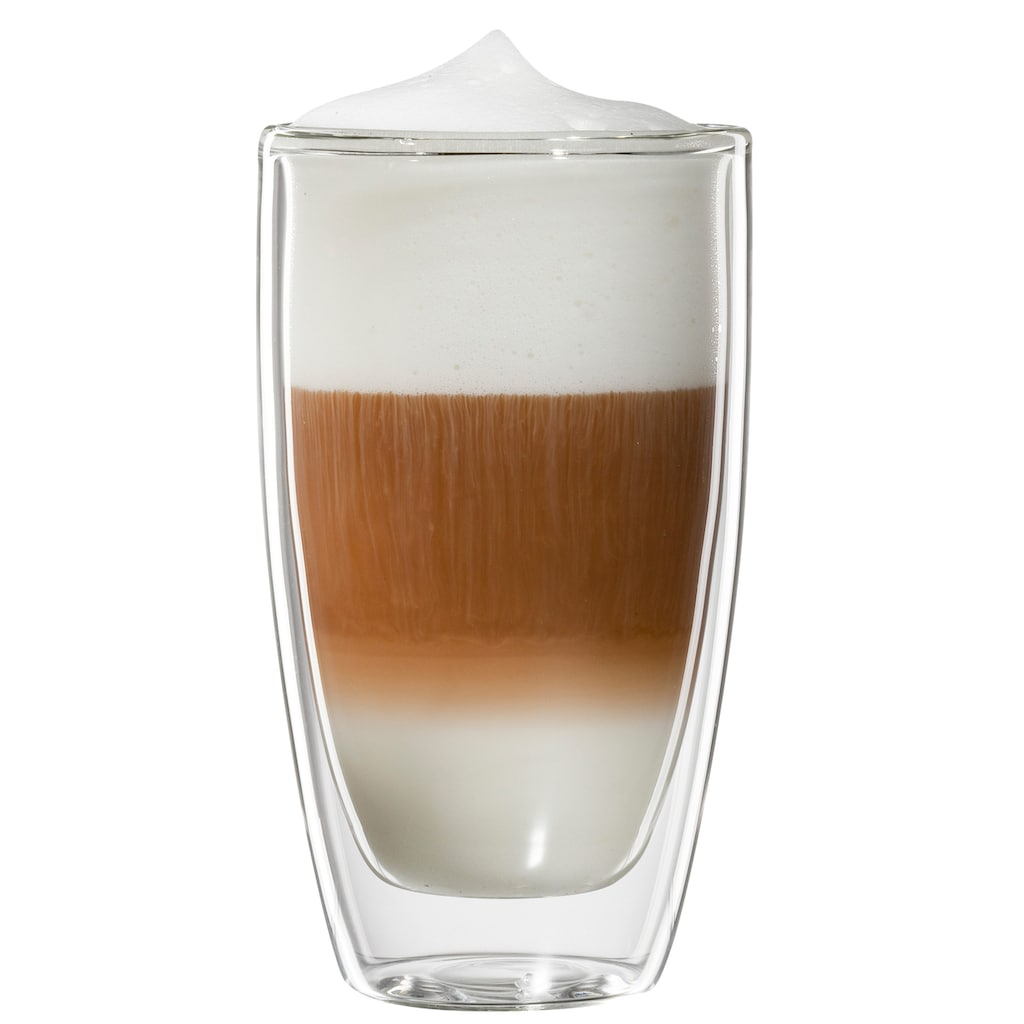 Bloomix Latte-Macchiato-Glas »Roma«, (Set, 4 tlg.), Doppelwandig