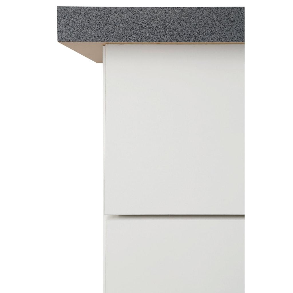 wiho Küchen Winkelküche »Peru«, mit E-Geräten, Stellbreite 260 x 235 cm
