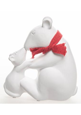 VALENTINO Wohnideen Tierfigur »Eisbär mit Kind und Schal«, sitzend kaufen