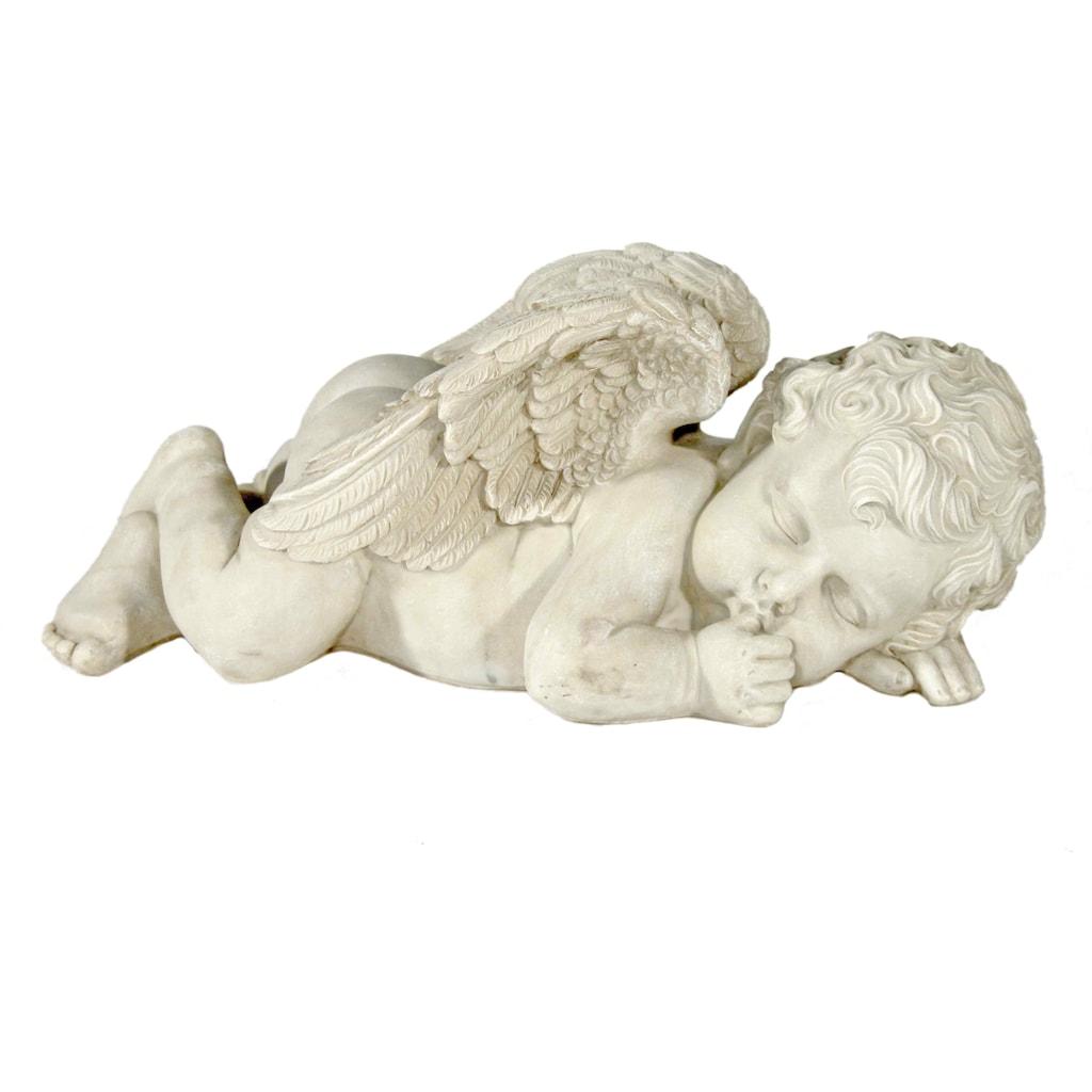 Casa Collection by Jänig Engelfigur »Liegender, schlafender Engel mit Daumen im Mund, B 45 cm«