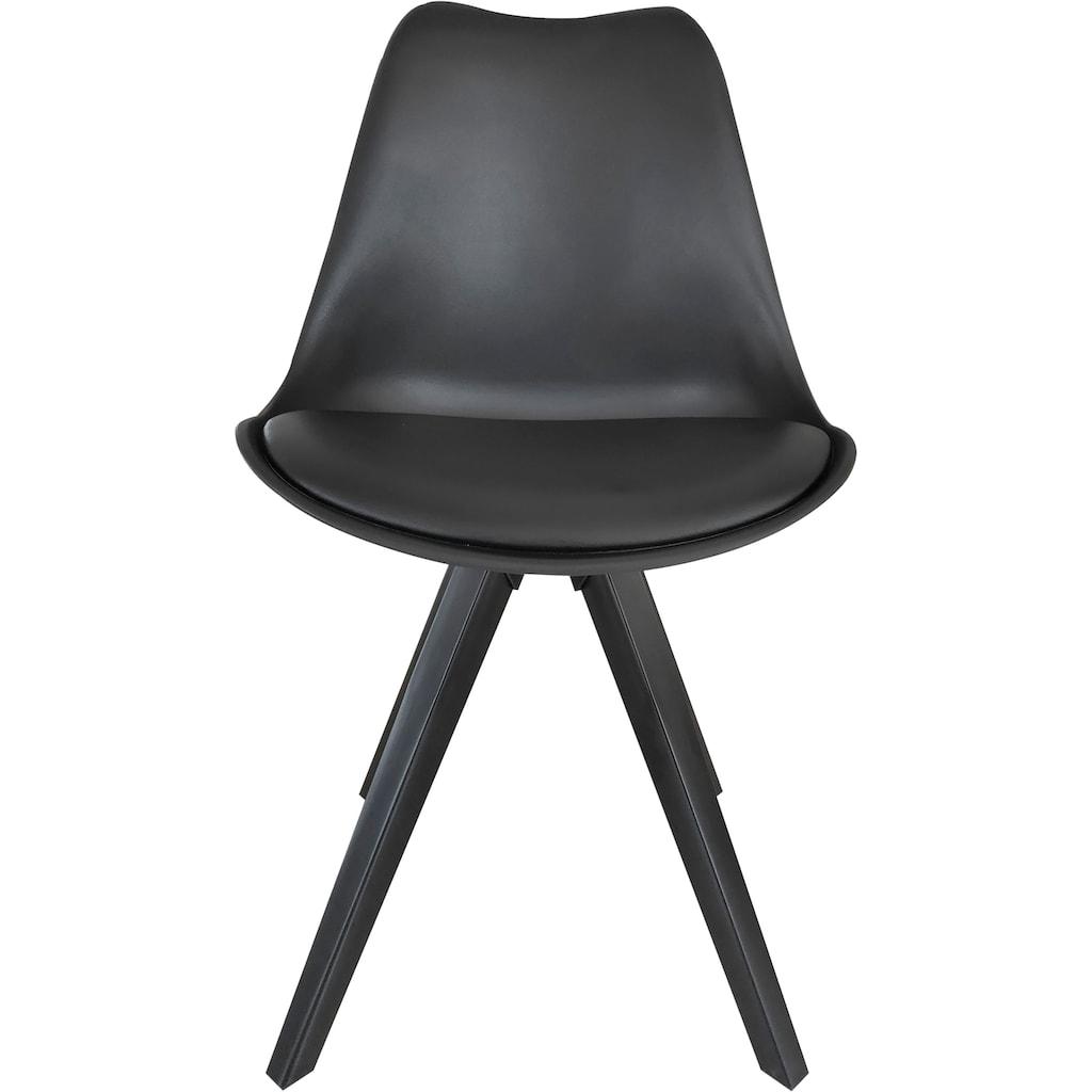 Homexperts Esszimmerstuhl »Kaja 02«, Sitzschale mit Sitzkissen in Kunstleder