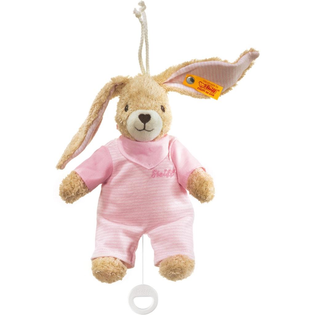 Steiff Spieluhr »Hoppel Hase, rosa, 20 cm«