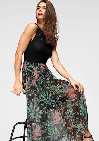 Aniston SELECTED Sommerkleid, mit buntem Rockteil kaufen