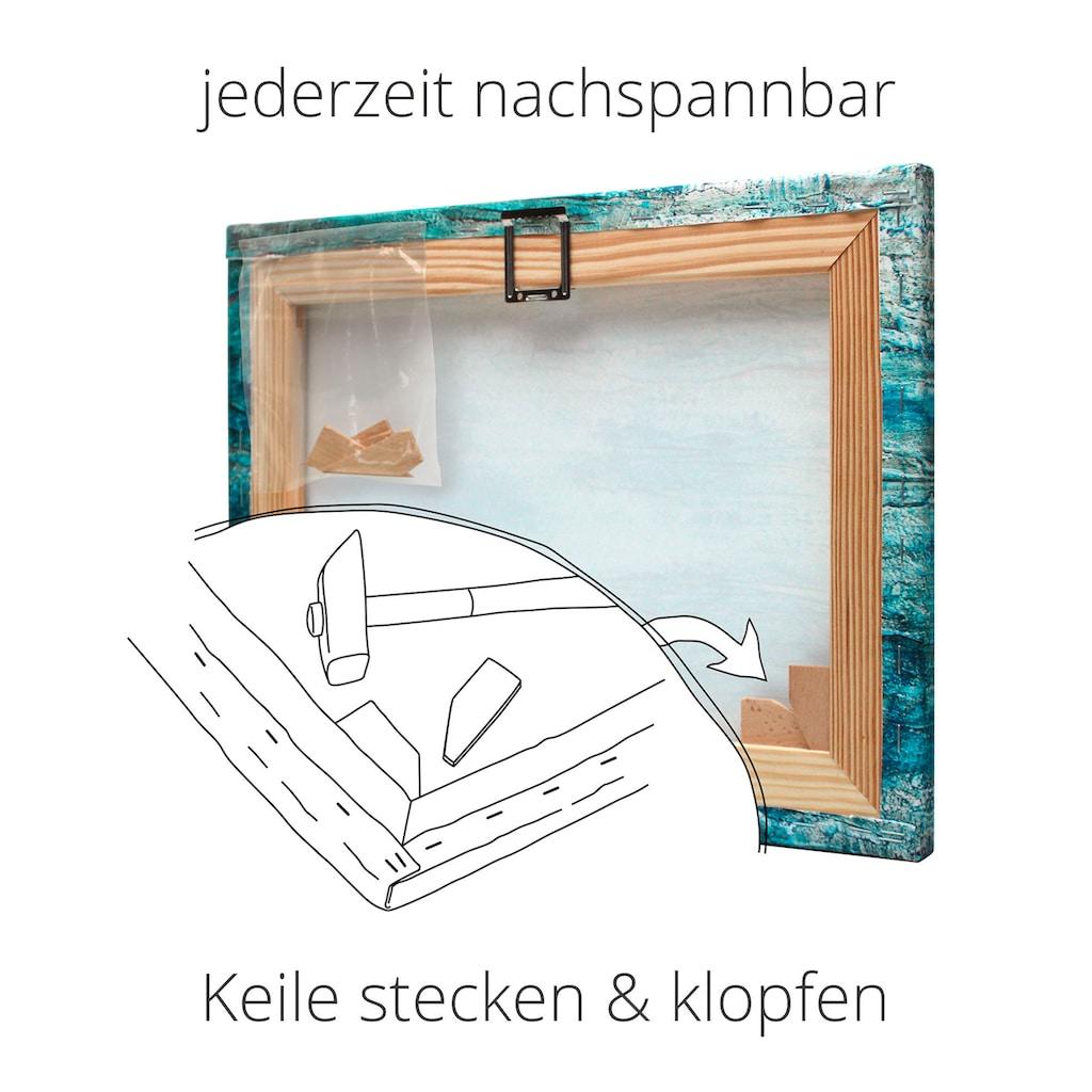Artland Wandbild »Fensterblick Sonnenuntergang Meer«, Strand, (1 St.), in vielen Größen & Produktarten -Leinwandbild, Poster, Wandaufkleber / Wandtattoo auch für Badezimmer geeignet