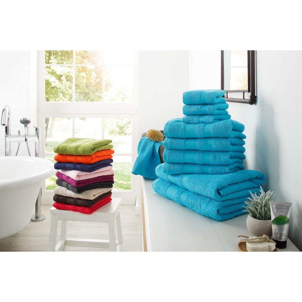 my home Handtuch Set »Vanessa«, mit abgesetzter Bordüre
