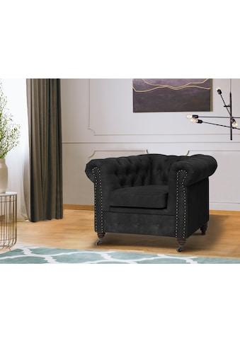 Home affaire Chesterfield-Sessel »Aarburg«, aufwändige Knopfheftung und Ziernägel im... kaufen
