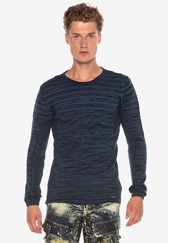 Cipo & Baxx Langarmshirt, mit meliertem Streifenmuster kaufen