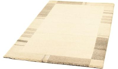 morgenland Wollteppich »Nepal Teppich handgeknüpft beige«, rechteckig, 18 mm Höhe kaufen