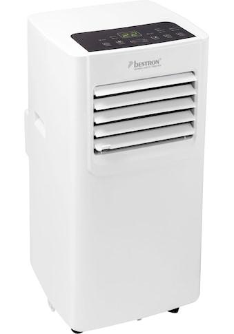bestron Klimagerät »mobiles Gerät«, für Räume bis 28m², Kühlleistung 2,1 kW mit umweltfreundlichem Kühlmittel, 7.000BTU/h, Farbe: weiß kaufen