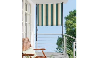 Angerer Freizeitmöbel Klemm-Senkrechtmarkise »Nr. 8700«, grün/beige, BxH: 120x275 cm kaufen