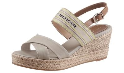 Tommy Hilfiger Sandalette »TH ARTISANAL MID WEDGE SANDAL«, mit verstellbarem... kaufen