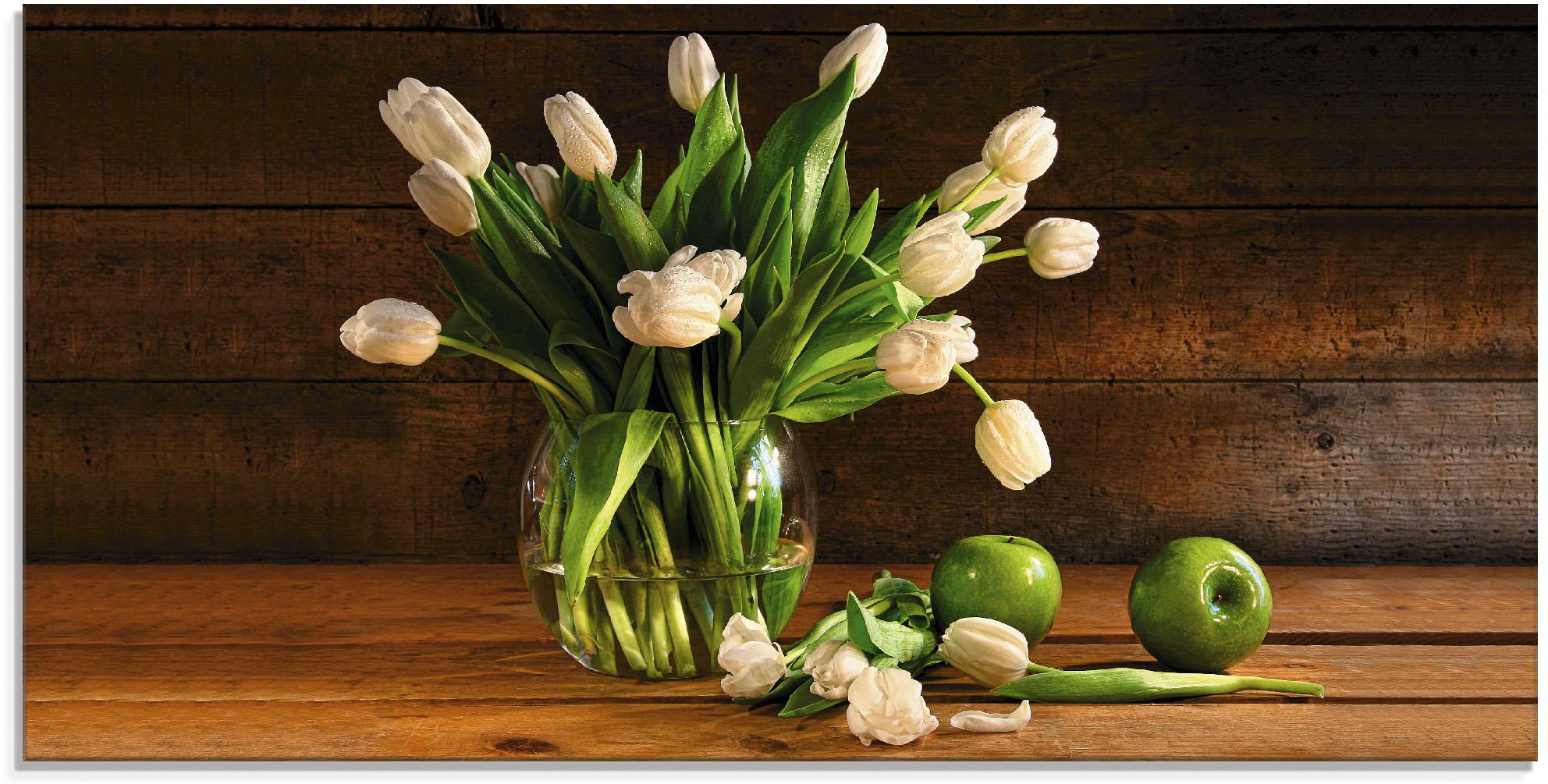 Artland Glasbild Tulpen in Glasvase, Blumen, (1 St.) günstig online kaufen