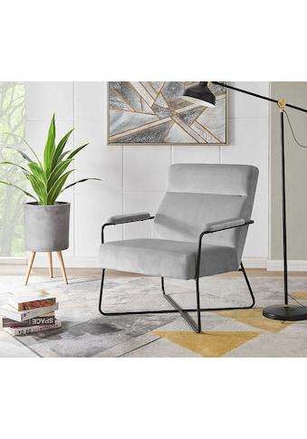 andas Sessel »Loki«, mit einem Metallgestell und pflegeleichten, weichen Samtvelours... kaufen