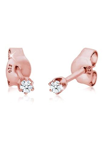 Diamore Paar Ohrstecker »Stecker Diamant 0.06 ct. Solitär 925 Silber« kaufen